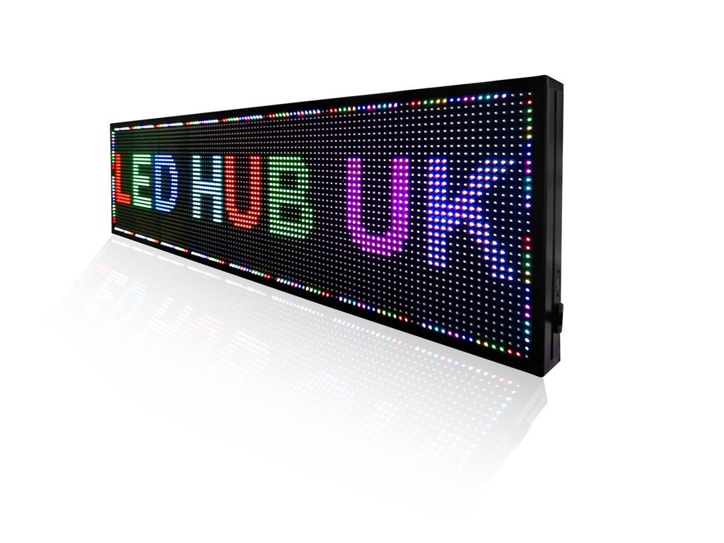 LED Programmable Sign - White